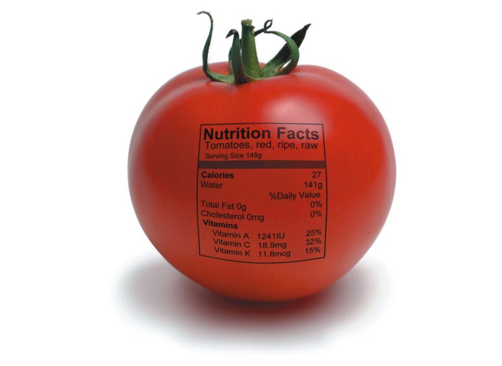 label on tomatoe